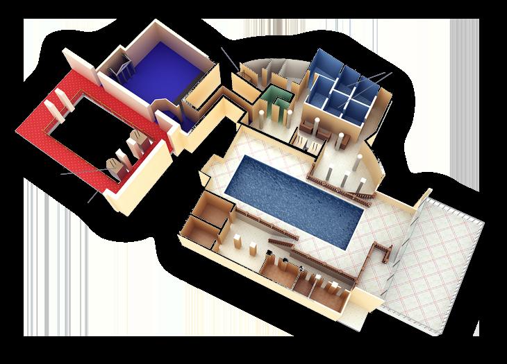 floor plan 6th floor spa gym - Spa Floor Plan